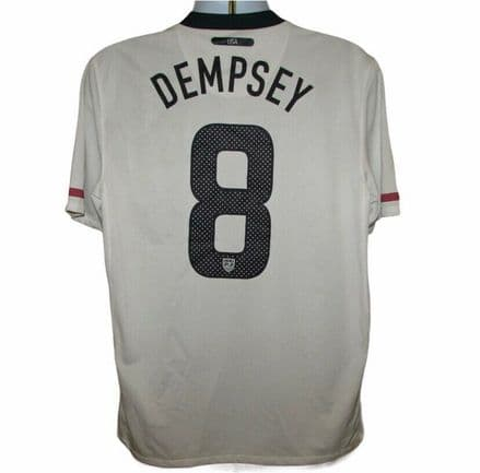 2010-2011 USA Home Football Shirt #8 Dempsey, Nike, Large (Excellent Condition)